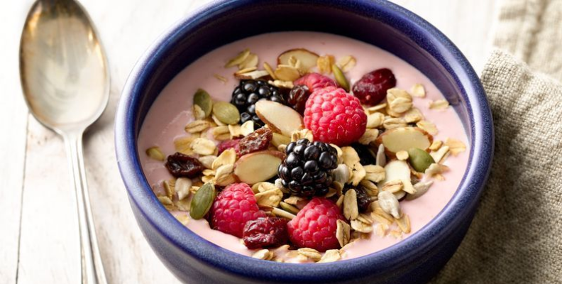 Eat smaller servings of healthy snacks to stay on track.