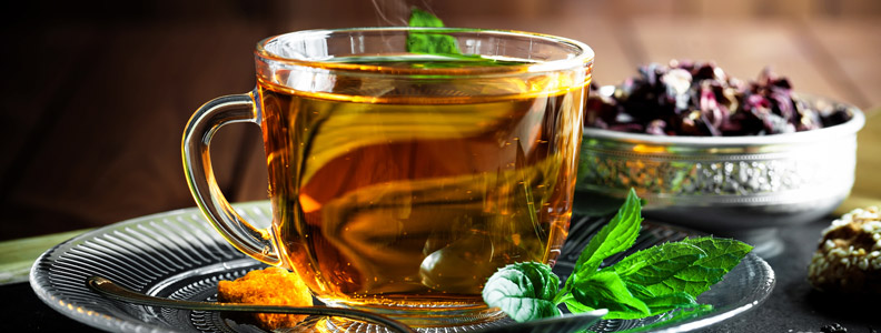 Mint and Tea, a perfect combo
