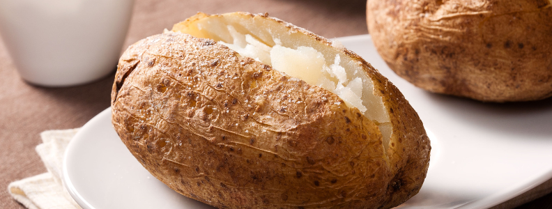 baked potatoes, which are a great way to max out the recommended daily goal for potassium