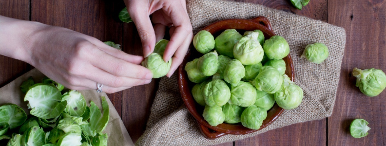 Brussels sprouts, loaded with folate.
