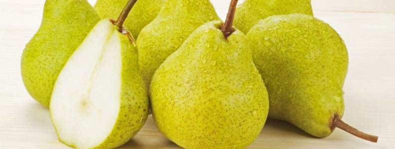 fresh pears, which pack a punch when it comes to dietary fiber