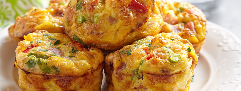Savory Egg Muffins make a nutritious breakfast on the go.