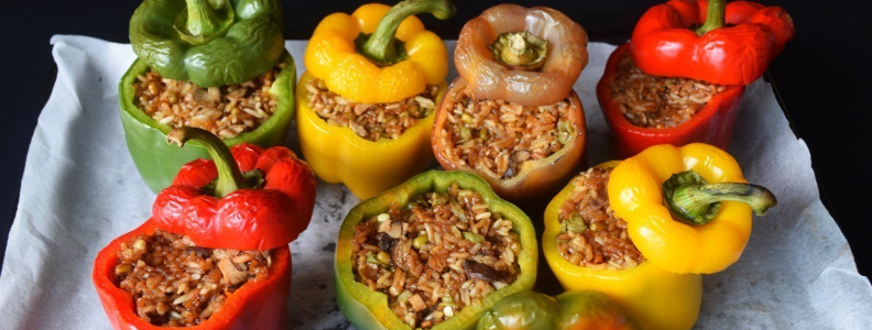 stuffed bell peppers, which contain 250% of the recommended daily goal of vitamin C - more than citrus fruit!